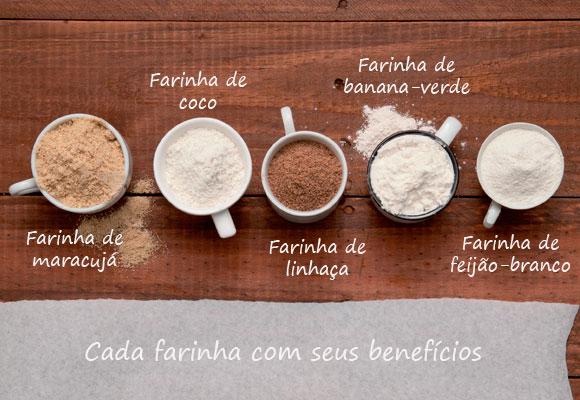 Farinha tem seus benefícios.