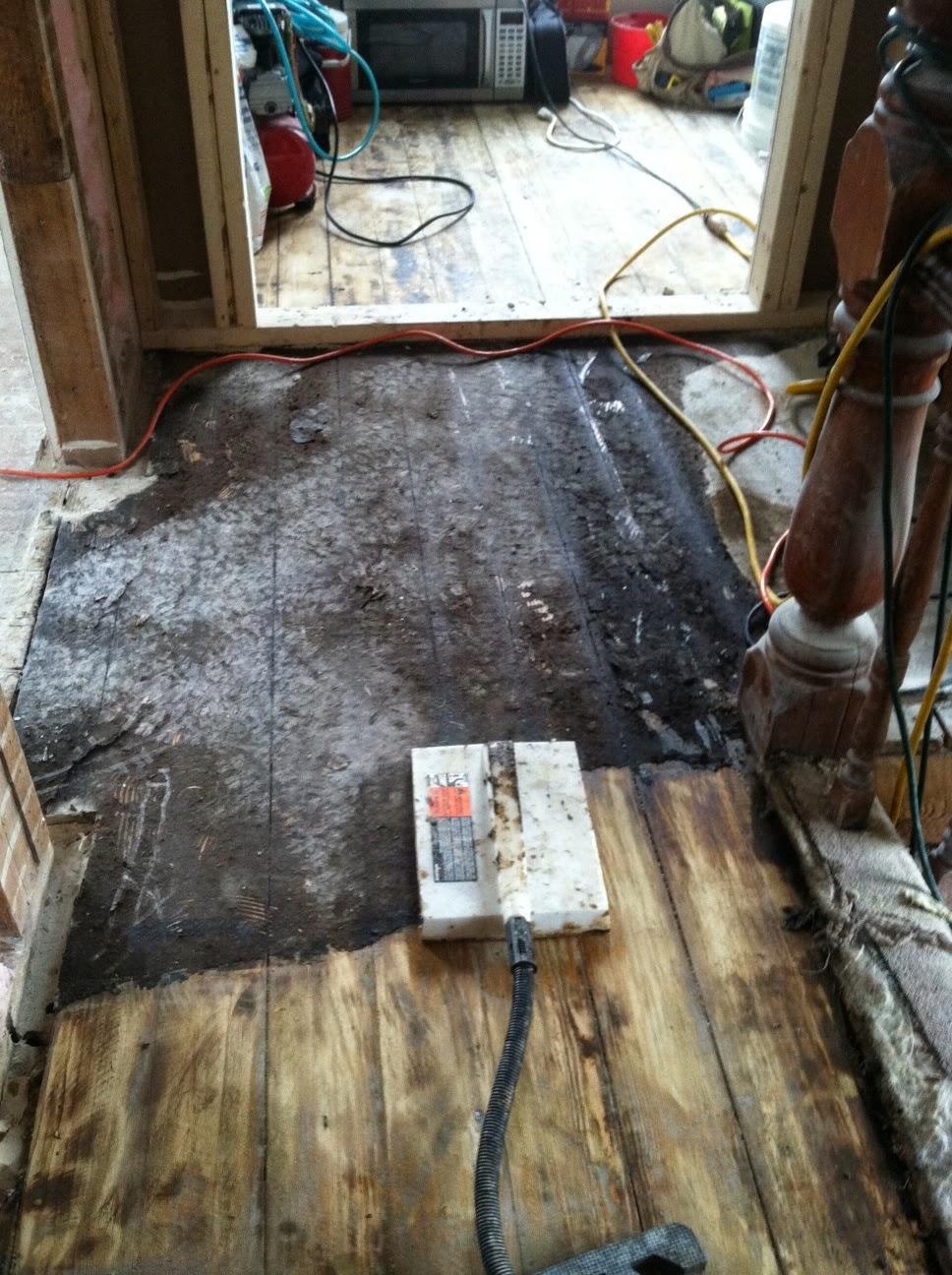Tar Paper Under Laminate Flooring >> Vermont Vanities Wood Floor Resurrection