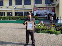 AKP Ridho Rafika Terima Piagam Penghargaan Kapolda Lampung