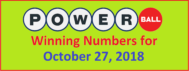 PowerBall Winning Numbers for Saturday, 26 October 2018