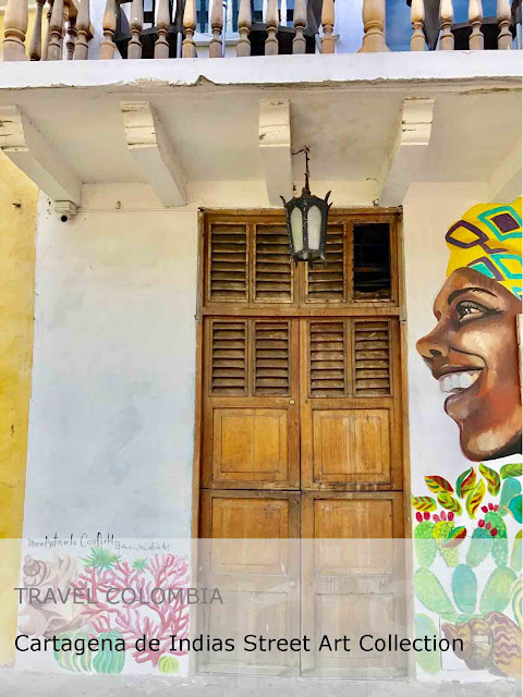 Travel Colombia. Cartagena de Indias Street Art Collection