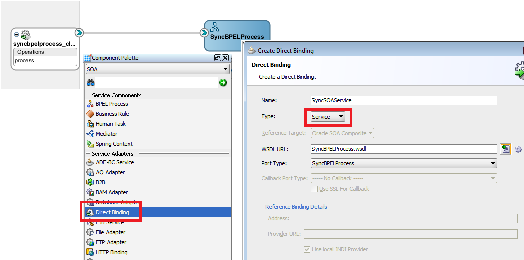 OSB to SOA Using SOA Direct Modify Composite