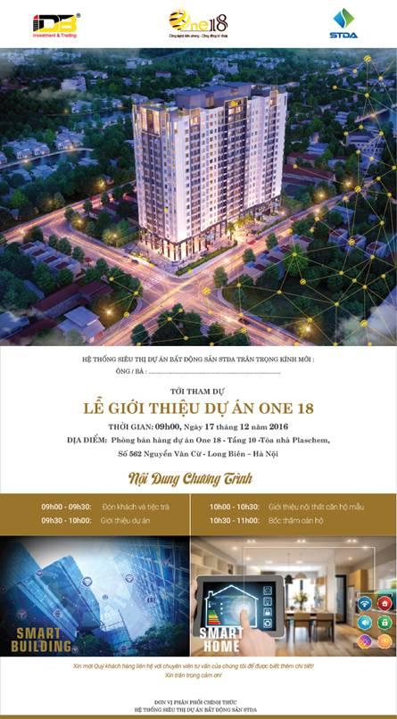 Thư mời lễ mở bán chung cư One18