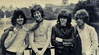 Iveys black & white promo photo taken after Tom Evans joined the group in 1967.