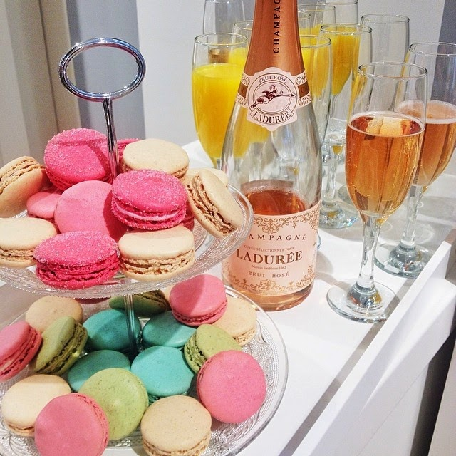Laduree macarons and Champagne at the Petit Bateau x Vente Privee fashion bloggers event