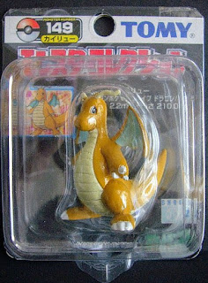 Dragonite Pokemon figure Tomy Monster Collection black package series