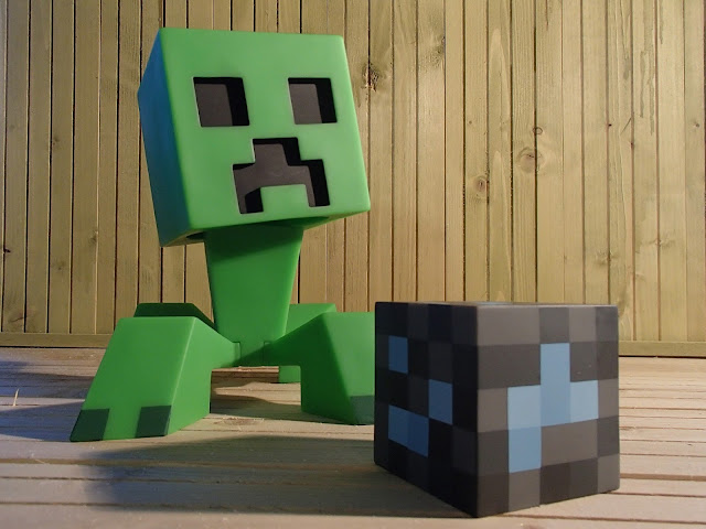 creeper y bloque de diamante