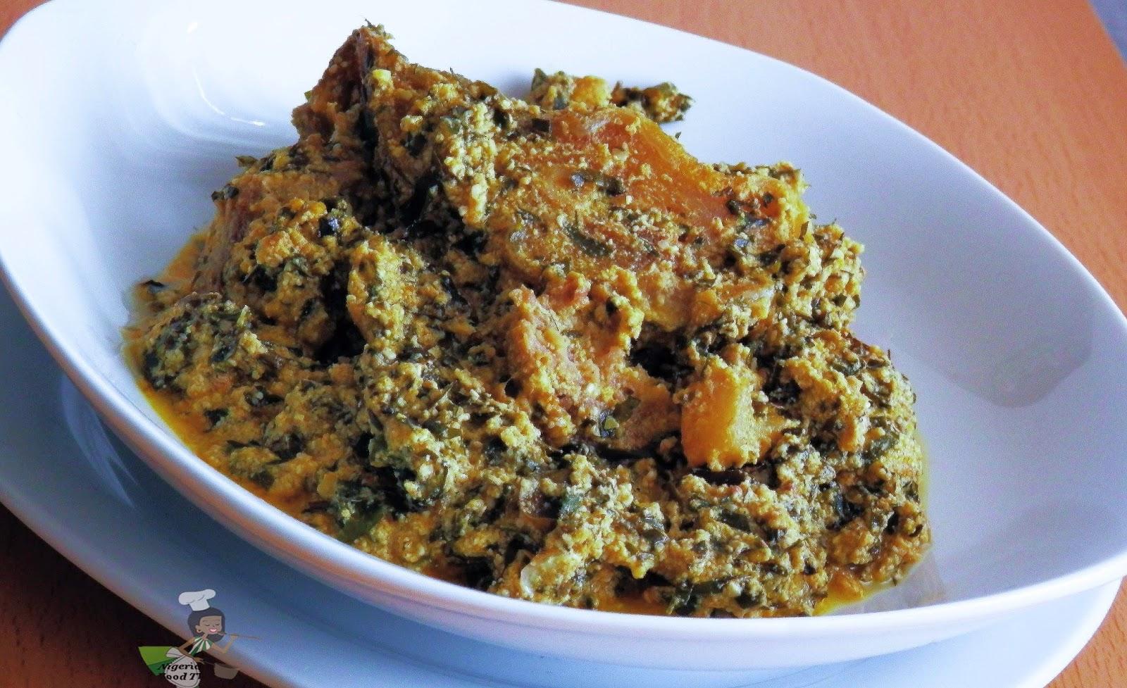 Ofe Di Na Nwayi, nigerian soup recipes, egusi soup with uziza
