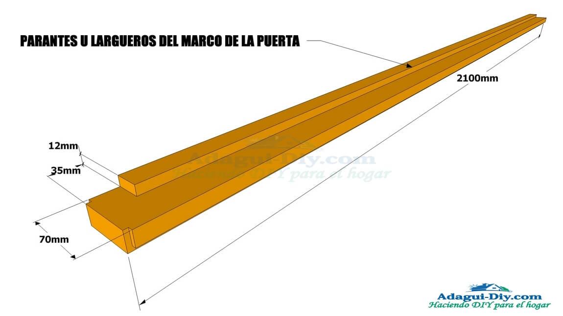 Plano de la estructura de puerta contraplacada   Web del Bricolaje ...