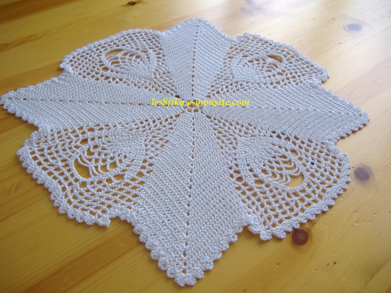 Le crochet des8jika napperon carr bouton d 39 or - Napperon crochet grille gratuite ...