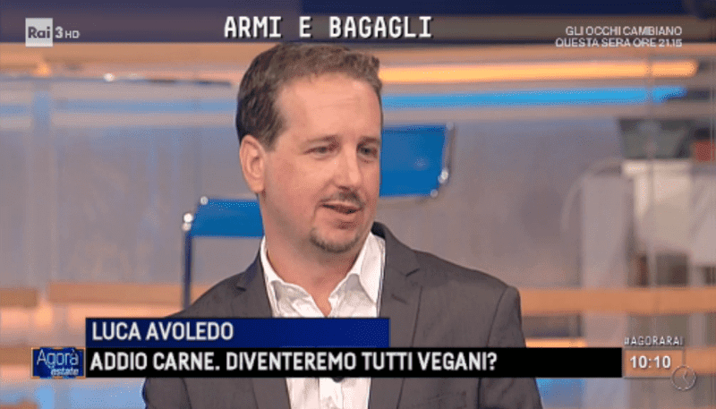 Luca Avoledo presenta il suo libro No Vegan su Rai3