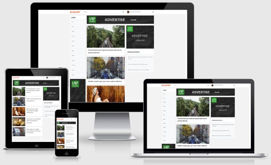 Chia sẻ Free AMP template blogspot 2019