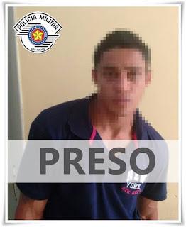 POLÍCIA MILITAR PRENDE CRIMINOSO CONHECIDO PELA INTERNET POR TER ROUBADO UMA LOJA EM REGISTRO