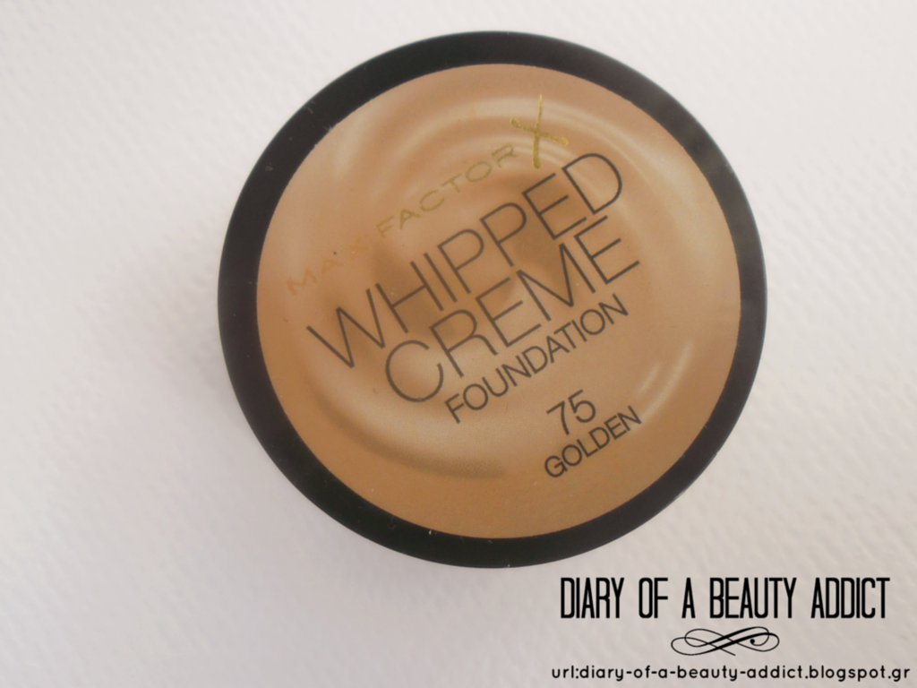 Max Factor Whipped Creme Foundation-75 Golden