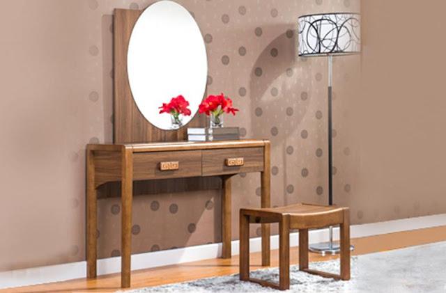 Biến hóa phòng ngủ với các mẫu bàn trang điểm gỗ giá rẻ độc đáo trên thị trường