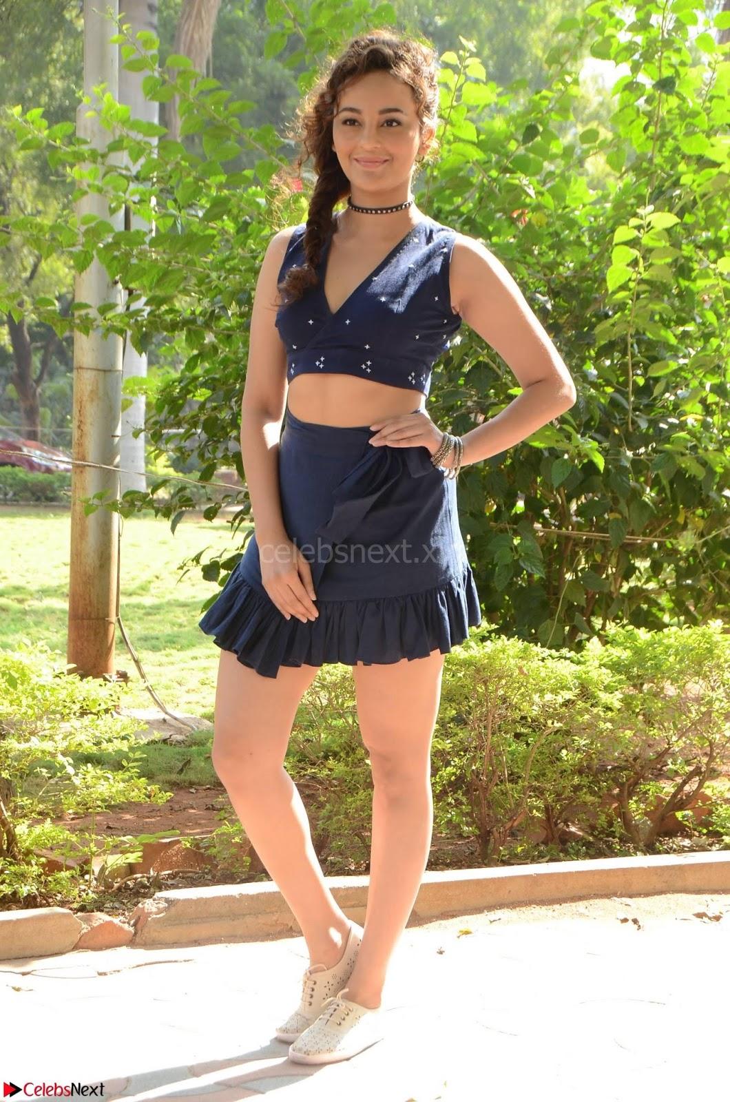 Seerat Kapoor Stunning Cute Beauty in Mini Skirt  Polka Dop Choli Top