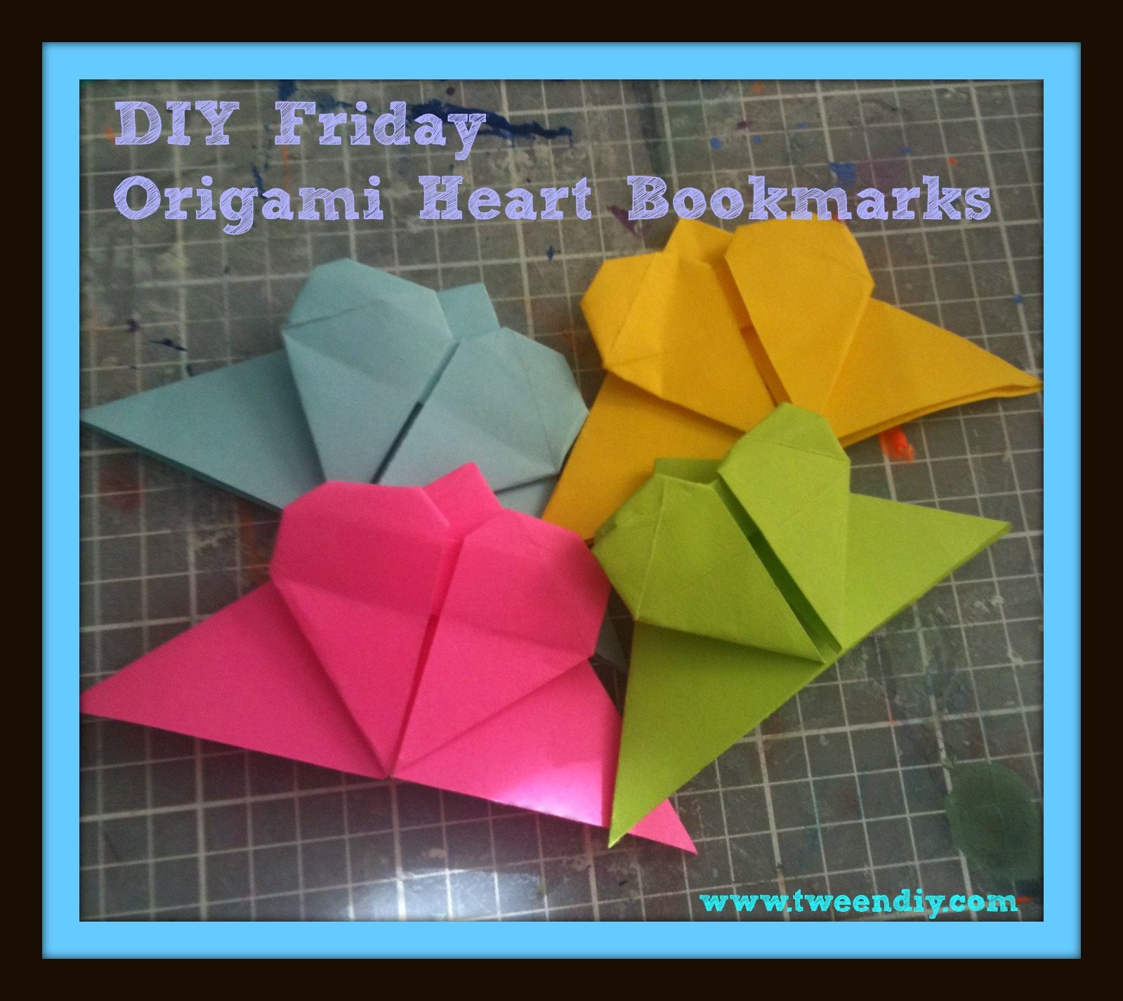 ArchGuide: Learn to Make Some Origami Heart Corner Bookmarks | 1425x1599