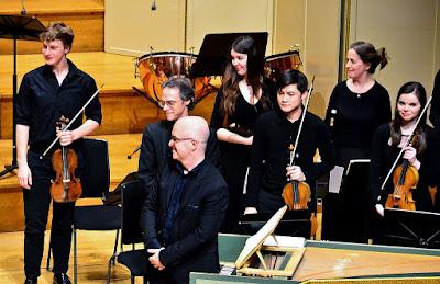 Laurence Cummings, Adrian Butterfield, Rachel Brown, Academy Baroque Ensemble (Photo Andrea Liu)