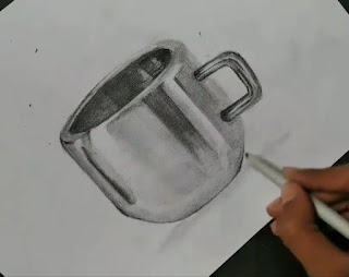 Drawing realistic steel cup drawing, how to draw cup, step by step tutorial of Cup , easy drawing for begginers, drawings for kids, graphite pencils drawing