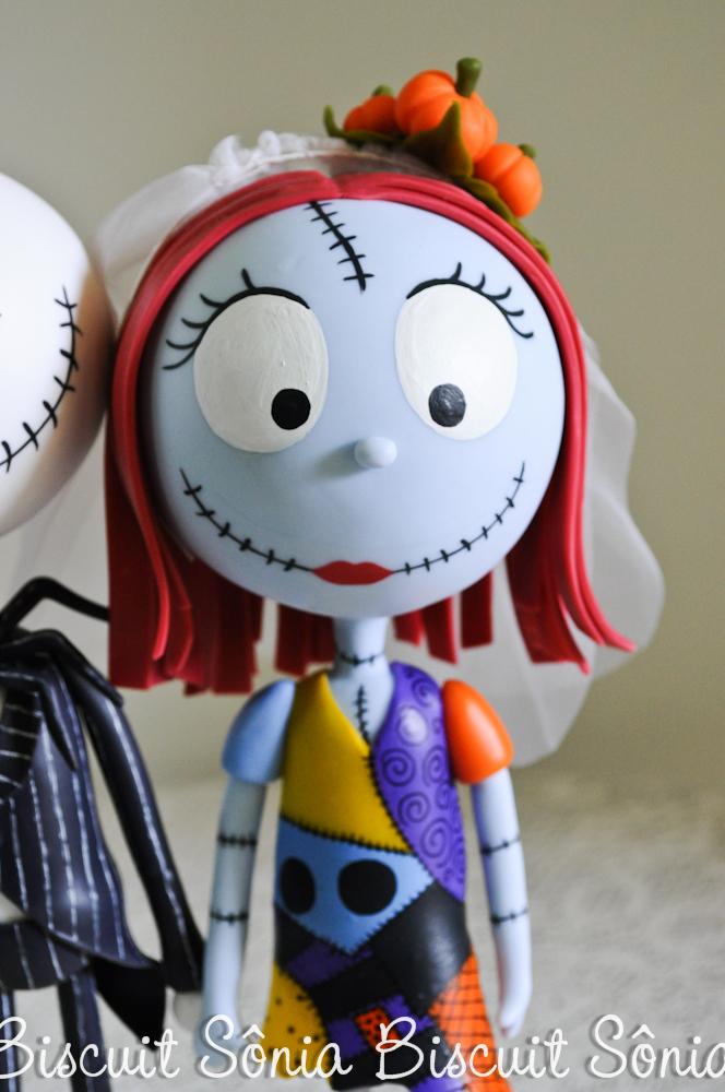 Jack Skellington e Sally Nightmare Before Christimas Biscuit