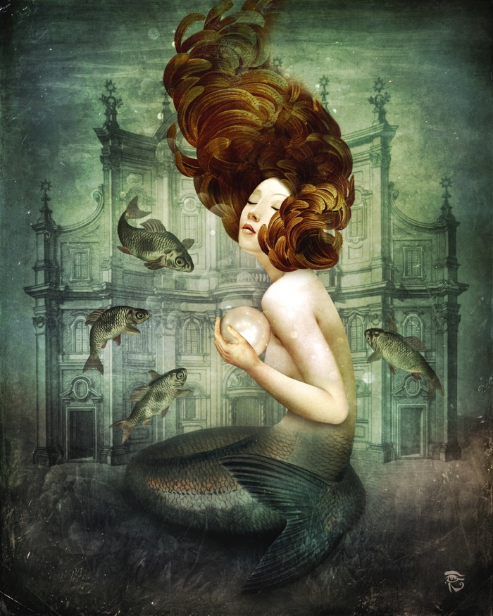 08-Fantasy-The-Mermaid-s-Pearl-Christian-Schloe-Digital-Art-combining-Dreams-with-Surreal-Paintings-www-designstack-co