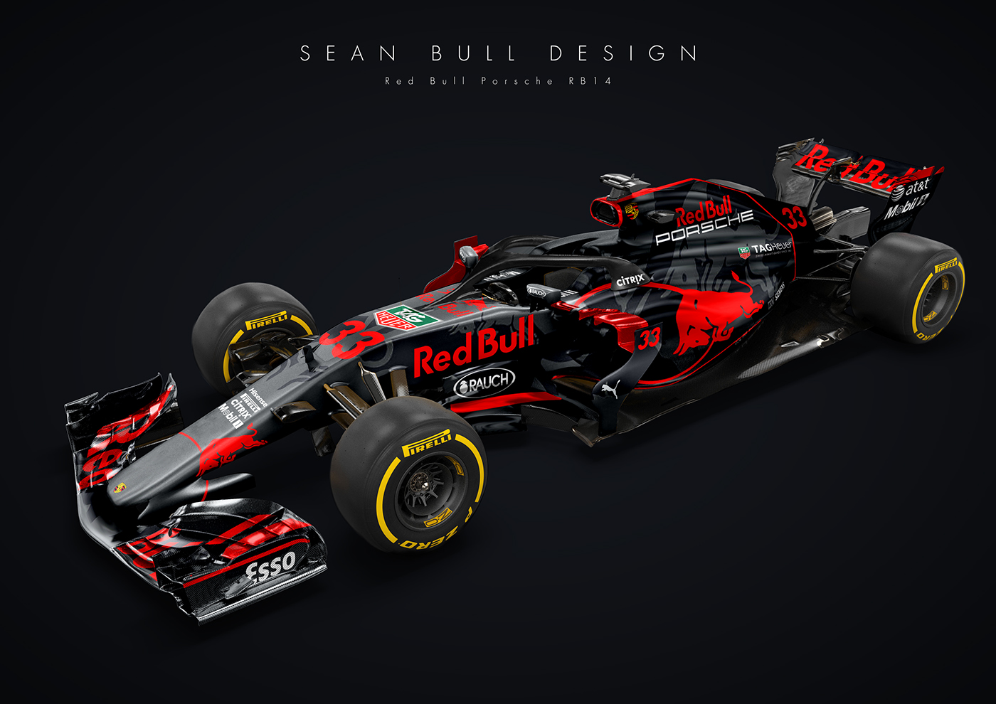 porsche and red bull racing f1 car is oh so tempting carscoops. Black Bedroom Furniture Sets. Home Design Ideas