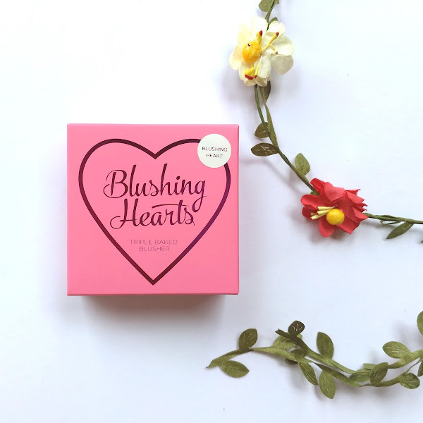 Review Makeup Revolution I Heart Makeup Blushing Hearts Triple Baked Blush - Blushing Heart