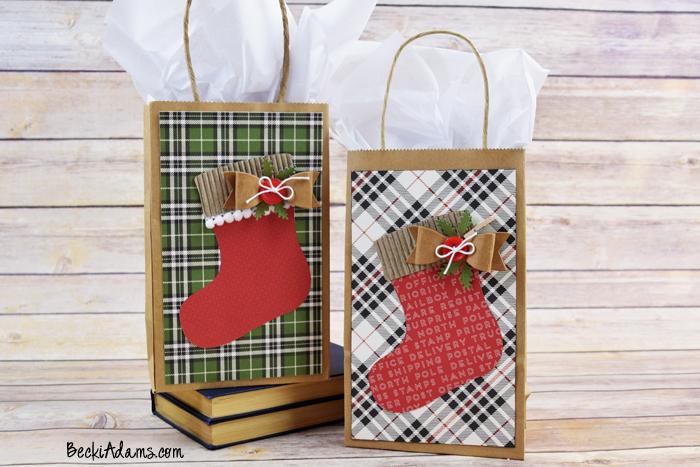 Christmas Gift Bags Diy.Becki Adams Diy Christmas Gift Bag