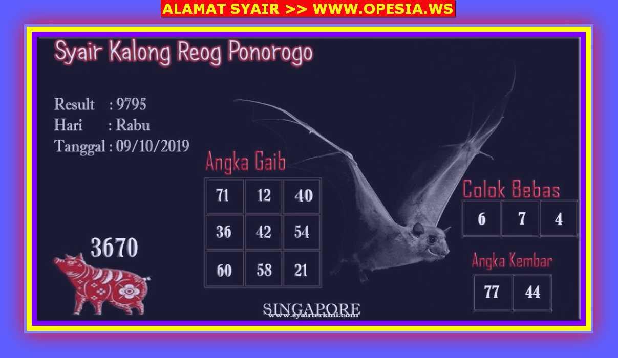 Kode syair Singapore Rabu 9 Oktober 2019 37