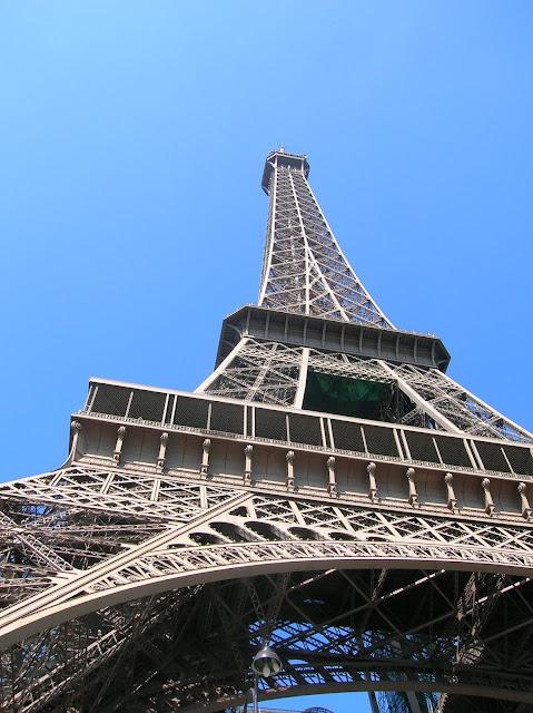 eiffel tower from below paris