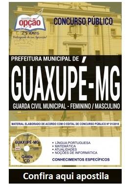 Apostila concurso Prefeitura de Guaxupé 2018 - Guarda Civil Municipal