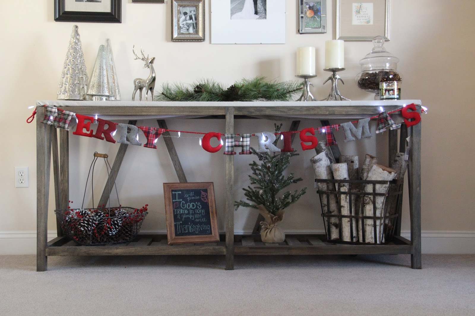christmas decorating ideas for sofa table cheapest fabric bed décor come on in darling do