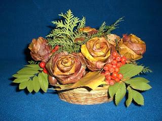 Букет роз из осенних листьев мастер-классы и идеи