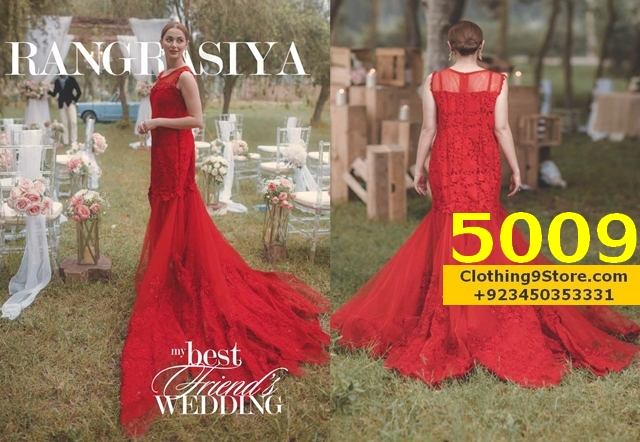 french wedding dresses online red bridal gown