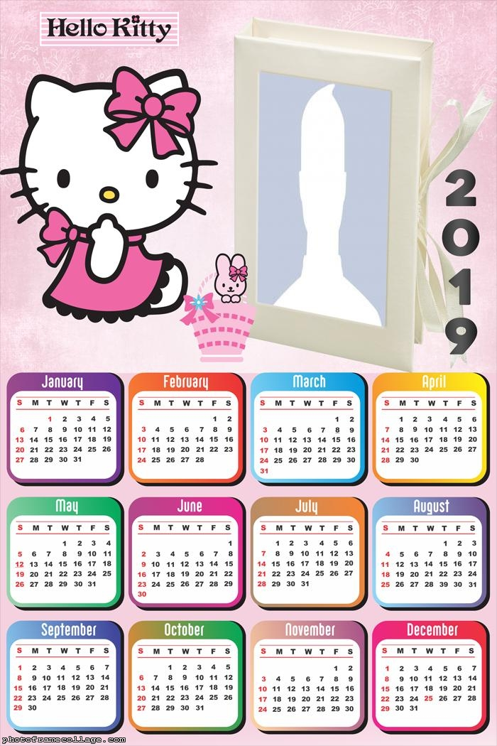 Hello Kitty 2019 Free Printable Calendar Oh My Fiesta In English