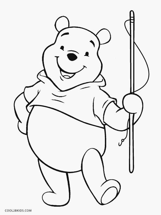Tranh cho bé tô màu gấu Pooh 24