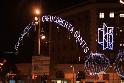 Carrer de Sants shopping street in Barcelona