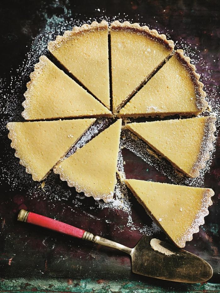 Green Mango Curd Tart