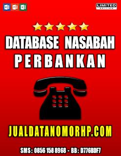Jual Database Nasabah Perbankan
