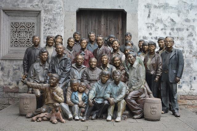 Statue dans la vieille ville d'Hangzhou