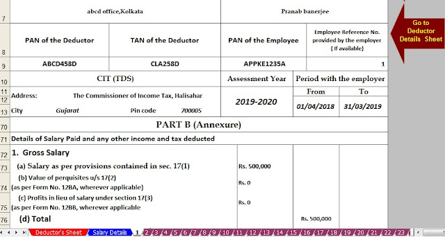 download automated income tax form 16 for financial year