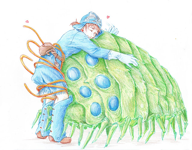 Fanart de Nausicaä faisant un câlin - calendrier de tendresses