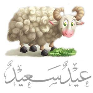 unique HD eid mubarak wishes with goat