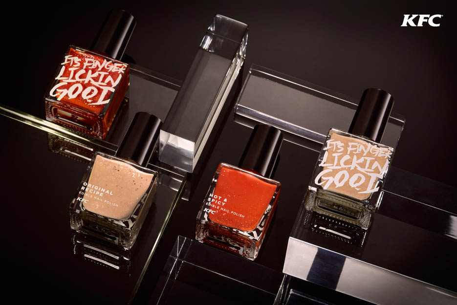 "KFC Hong Kong Brings ""Finger Lickin' Good"" to life with edible nail polish"