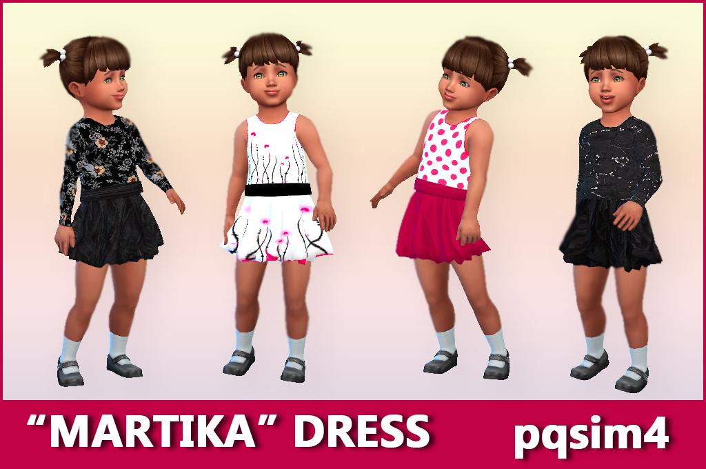 "vestido ""martika"". sims 4 custom content."