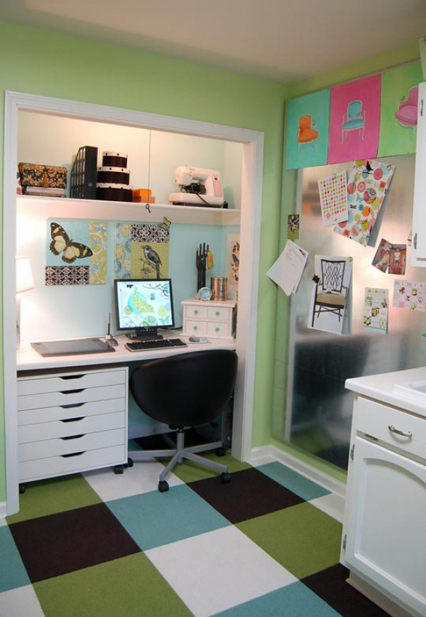 Hogares frescos c mo crear una oficina funcional en su for Oficina moderna en casa
