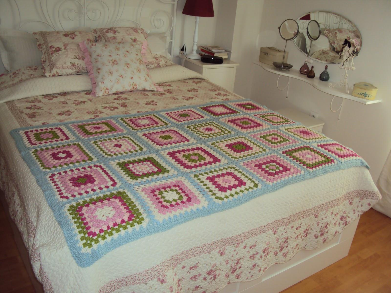 Puerta al sur un pie de cama a crochet para tu dormitorio - Pie de cama ...
