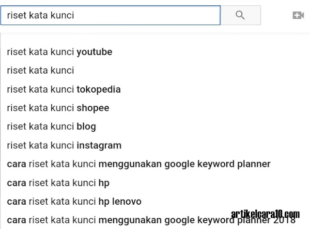Tentukan Kata Kunci Youtube