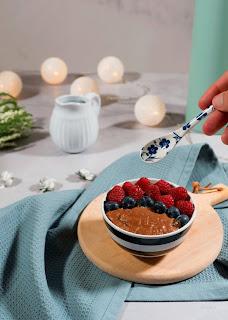 Receta de gachas de avena con chocolate en thermomix