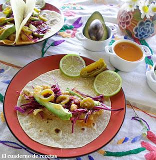 Tacos de pescado{Cocina Mexicana}